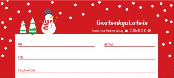 Gutschein 20 Euro (Motiv Weihnachten...