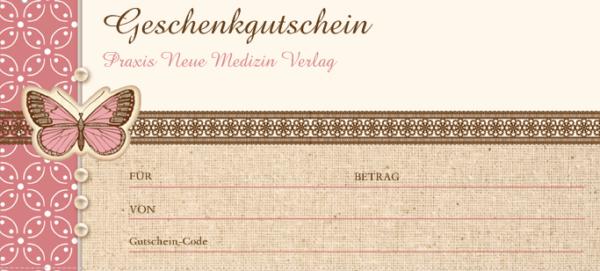 Gutschein 20 Euro (Motiv Schmetterling)